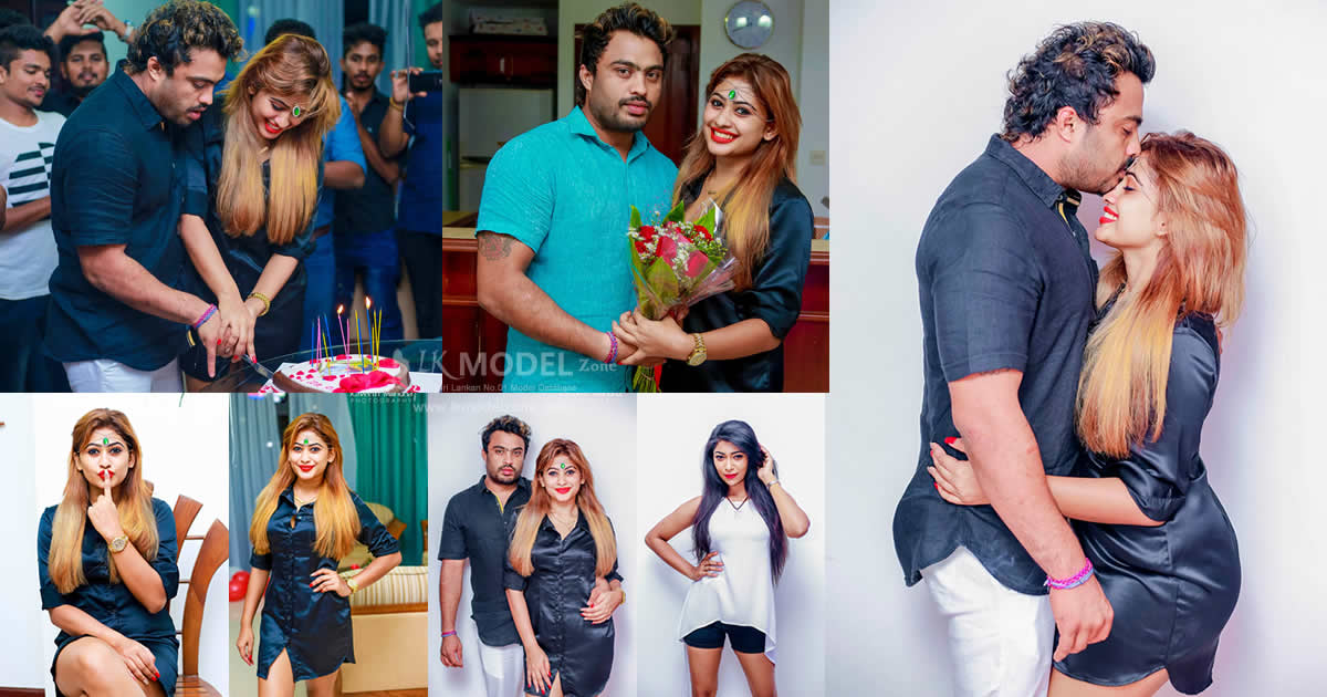 Piumi Hansamali Boyfriend Venura Surprise Birthday Celebration 2017